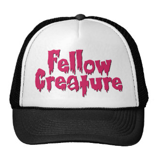 Fellow Creature Horror Movie Hot Pink Trucker Hat