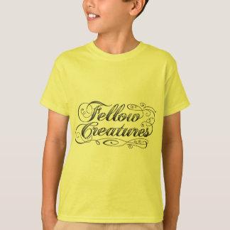 Fellow Creatures Tattoo Logo with Scrolls T-Shirt