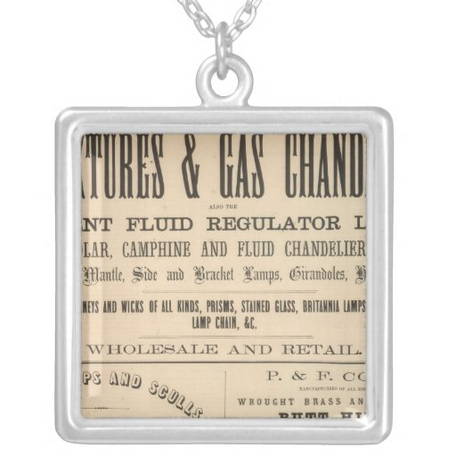 Fellows, Hoffman and Company Square Pendant Necklace