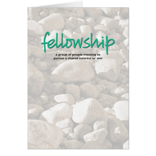 Fellowship Definition Inspiration Card