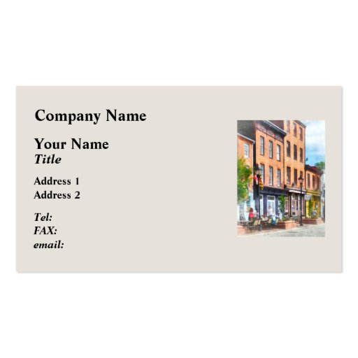 Fells Point Street Business Cards
