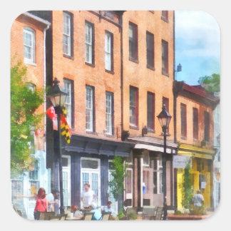 Fells Point Street Square Sticker