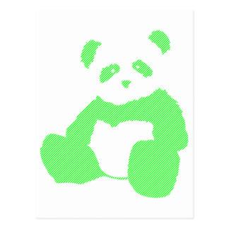 felpa de la panda tarjetas postales