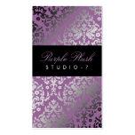 felpa de la púrpura del damasco 311-Dazzling Plantillas De Tarjeta De Negocio