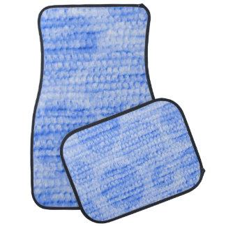 felpilla punteada grande, azul alfombrilla de coche