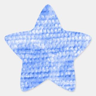 felpilla punteada grande, azul calcomanía forma de estrella personalizada