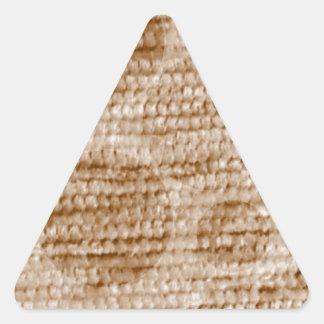 felpilla punteada grande, beige pegatina de triangulo personalizadas