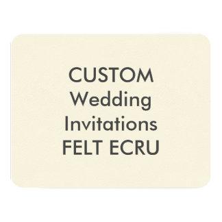 """FELT ECRU 110lb 5.5"""" x 4.25"""" Wedding Invitations"""