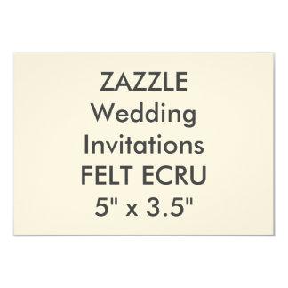 """FELT ECRU 110lb 5"""" x 3.5"""" Wedding Invitations"""