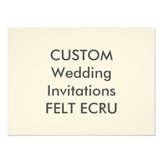 """FELT ECRU 110lb 7.5"""" x 5.5"""" Wedding Invitations"""