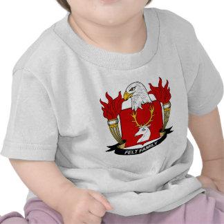 Felt Family Crest T Shirts