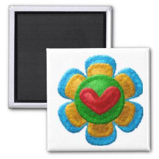 FELT FLOWER Locker Magnets, Refrigerator Magnet