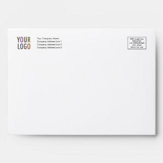 Felt Greeting Card Envelope Logo Address Indicia