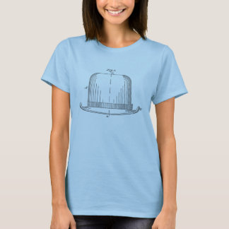 Felt Hat Patent Illustration [gray] T-Shirt