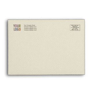 Felt Invitation Envelope A6 Logo Address Indicia
