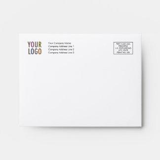 Felt Note Card Envelope with Logo Address Indicia