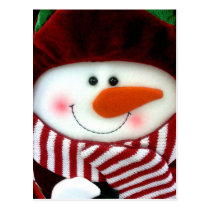 Felt Snowman Holiday Postcard