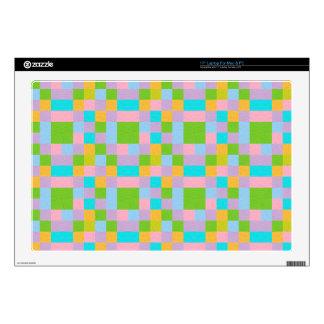 Felt Squares Pastel Laptop Skin