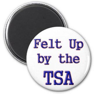 Felt Up by the TSA 2 Inch Round Magnet