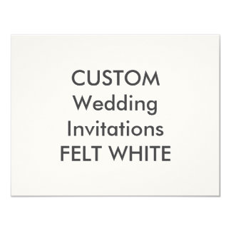 "FELT WHITE 110lb 5.5"" x 4.25"" Wedding Invitations"