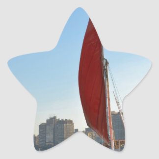 Felucca en El Cairo Calcomania Forma De Estrella Personalizada