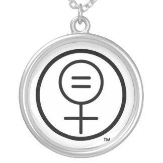 FEM Logo Necklace! Round Pendant Necklace