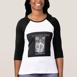 Fem- Zen b/w raglan T-shirts