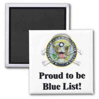 FEMA Camp Blue List Magnets