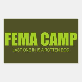 FEMA CAMP RECTANGULAR STICKER