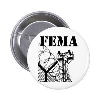 FEMA  Camps Pinback Button