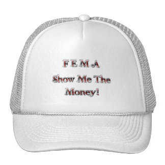 FEMA Show Me The Money! chrome red Trucker Hat