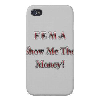 FEMA Show Me The Money! chrome red iPhone 4/4S Cases