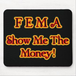 FEMA Show Me The Money! Fire Text Mouse Pad