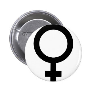 Femal - Woman - Women Sign Pinback Buttons