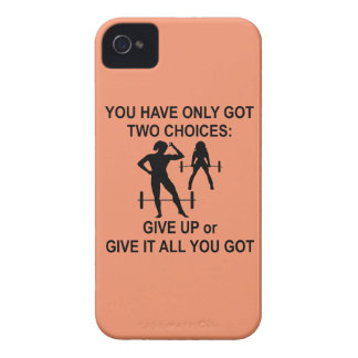 Female 2 Choices Give Up Or Give Your All iPhone 4 Covers