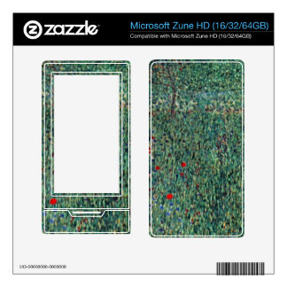 Female act with Animals by Gustav Klimt Decal For Zune HD