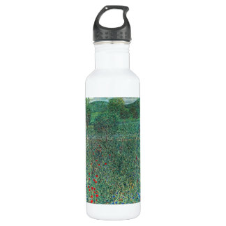 Female act with Animals by Gustav Klimt Stainless Steel Water Bottle
