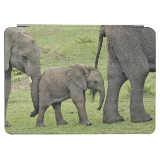 Female African Elephant with baby, Loxodonta 3 iPad Air Cover