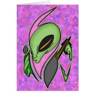 Female Alien Artist Card