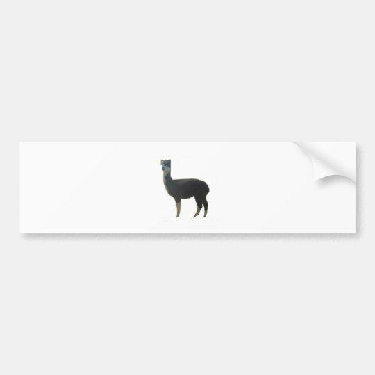 Female alpaca bumper sticker