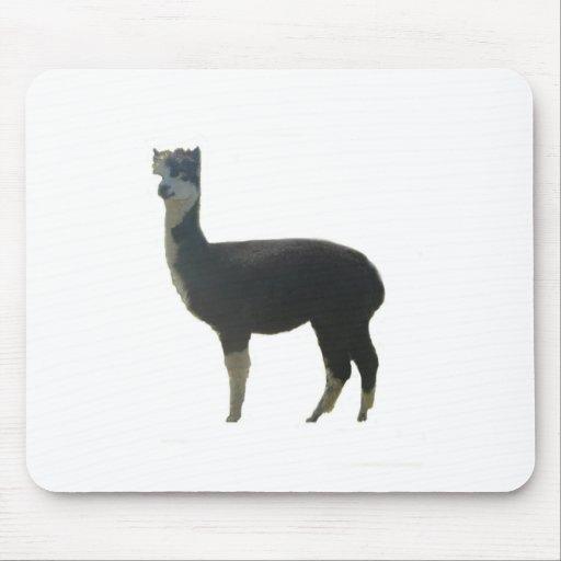 Female alpaca mouse pad