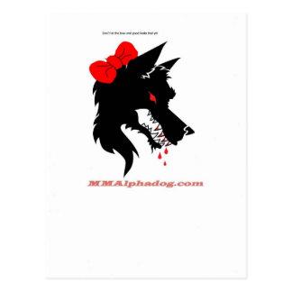 female alpha postcard
