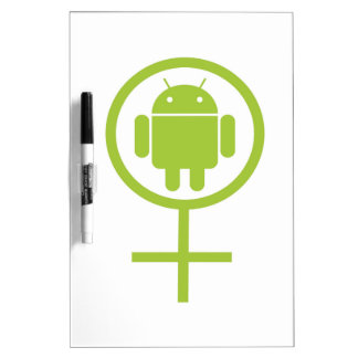 Female Android (Software Developer) Bug Droid Dry-Erase Whiteboard