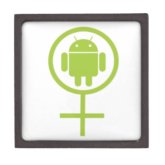 Female Android (Software Developer) Bug Droid Jewelry Box