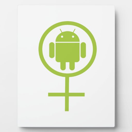 Female Android (Software Developer) Bug Droid Display Plaques