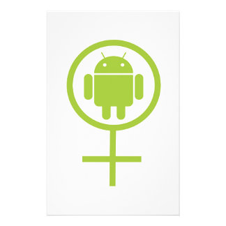 Female Android (Software Developer) Bug Droid Customized Stationery