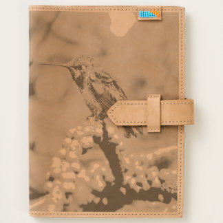 Female Anna's Hummingbird, California, Leather Journal