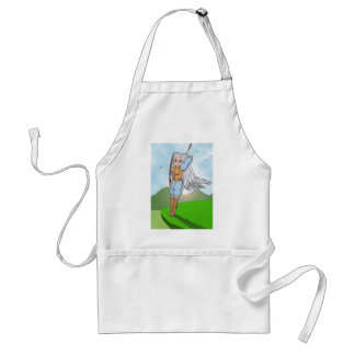 Female Archer Anime Art Gallery Character Adult Apron