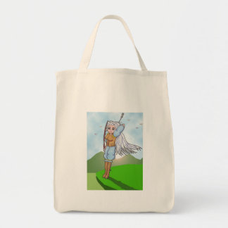 Female Archer Anime Art Gallery Character Tote Bag