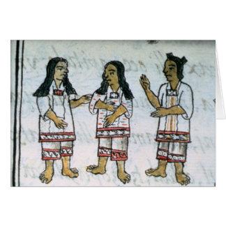 Female Aztec costumes Card